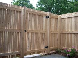 vertical wooden fence gates