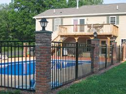 Small Picture Brick Wood Fence 7631