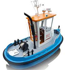 1 18 rc mini tugboat diy simulation abs wooden boat model ship kit kids gift