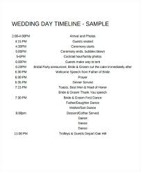 Wedding Day Timeline Template Wedding Day Timeline Vendor List ...