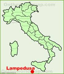Lampedusa Location On The Italy Map