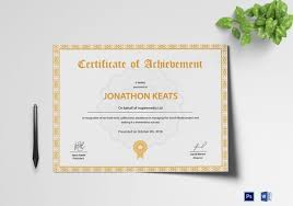 Certificate Template 50 Printable Word Excel Pdf Psd
