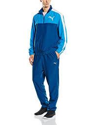 puma tracksuit mens. puma mens tracksuit woven fun graphic training jacket/pant blue s-xl new 83415011
