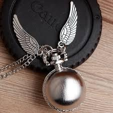 vintage harry potter necklace pocket watch snitch ball silver bronze antique fob watch chain pendant men women harry fans gift unique pocket watches