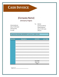 sample of cash bill cash bill template cash invoice template cash invoice