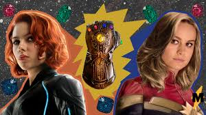 капитан марвел и чёрная вдова завладели перчаткой таноса даже двумя