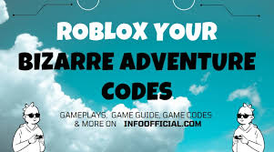 We aren't the game creators of yba, meaning we can't make codes… sorry! Roblox Your Bizarre Adventure Codes Yba Roblox Codes April 2021