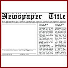 Basic Newspaper Template 15 Newspaper Template For Word Sample Paystub