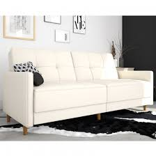 andora sprung faux leather sofa bed in