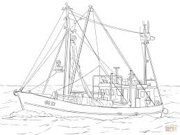 Free Coloring Pages Fishing Boatllll