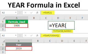 Year Formula In Excel How To Use Year Formula In Excel