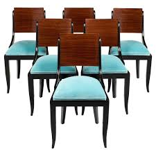 art deco period dining chairs set six art deco mid century dining