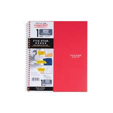 Five Star Graph Paper Notebook Five Star Quad Wirebound Notebook 1 Sub 100ct Red