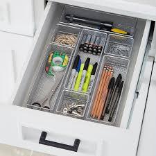 desk drawer organizer. Exellent Organizer Silver Mesh Drawer Organizers And Desk Organizer The Container Store