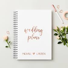 Wedding Plans personalised rose gold wedding plans book by martha brook 1