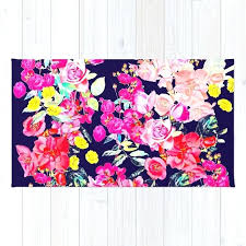 pink and navy rugs summer bright antique fl print with hot pink yellow and navy rug pink and navy rugs