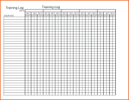 Template Weekly Exercise Template Chart My Workout Schedule Free