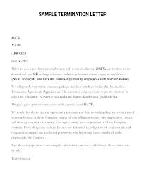How To Write A Termination Letter To An Employer Gorgeous Service Termination Letter Sample Professional Resume