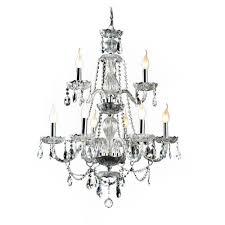 paris 3 light chandelier in black chrome designs