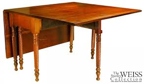 Drop Leaf Dining Table A Federal Cherry Drop Leaf Dining Table With Rope Twist Spiral