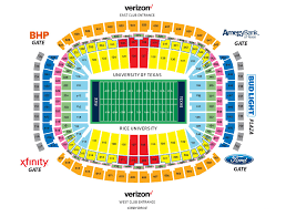 Rice Eccles Stadium Detailed Seating Chart Competent Rice Stadium Seating Chart Seating Chart For Ou
