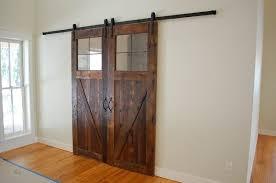 custom made rustic barn doors made from reclaimed lumber