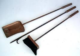 copper fireplace tool set antique copper fireplace tool set