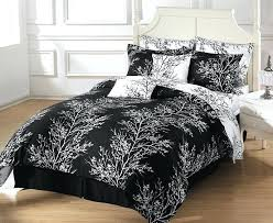 8pcs reversible black white tree branches duvet cover with sheet set queen size winter branches duvet