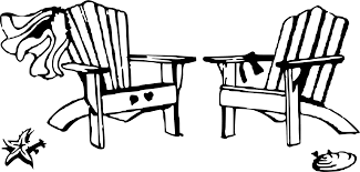 chair clipart black and white. Wonderful White Svg Free Library Beach Chairs Clipart Stunning Chair Drawing On With Chair Clipart Black And White