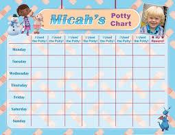 Doc Mcstuffins Potty Chart Potty Training Chart Potty Reward Chart Sticker Chart Customized Personalized Printable Chores Chart