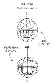 ballard designs chandeliers orb chandelier tree redwood chain cover