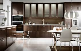 ikea modern kitchen. A Modern Kitchen With Brown Drawers, Doors, Glass Doors And Dining Area Ikea -