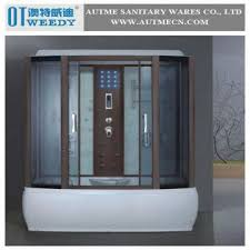 china steam shower room bathtub shower enclosure bathroom door with wood frame