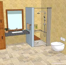 accessible bathroom 3d