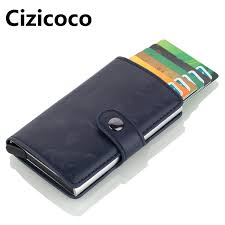 cizicoco men antitheft metal card holder fashion rfid aluminium credit