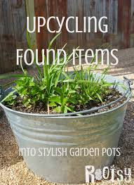 Garden Pots Upcycle Found Items Into Garden Pots Rootsy Network
