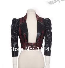 rq bl women steampunk y short leather jacket sp053 leather jacket jackets from alandd 45 23 dhgate com