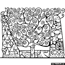 Small Picture Gustav Klimts Tree of Life Coloring Page