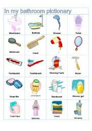 bathroom accessories names. english worksheets bathroom pictionary accessories names