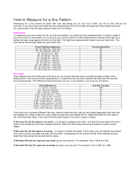 Bra Size Measurement Chart Free Download