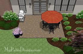 Simple patio designs with pavers Around Above Ground Pool Diypaverpatiodesign2 Mypatiodesigncom Diy Paver Patio Design Downloadable Plan Mypatiodesigncom
