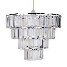 4 tier clear acrylic easy fit ceiling shade first choice lighting holiday presents
