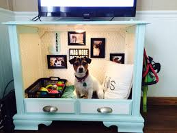 dog bed ideas. Perfect Dog Dog Bed From Old TV Console For Ideas 9