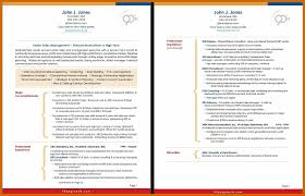 Two Pages Resume Format Page Free Professional Formats Designs