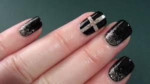 stylish black nail art
