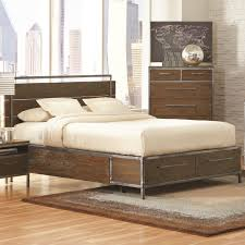 ... King Platform Bed With Pewter Coated Metal Accents   Rooms Furniture    Platform Or Low Profile Bed Houston, Sugar Land, Katy, Missouri City, Texas