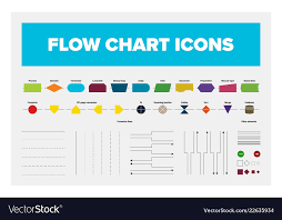 Collection Of Flow Chart Objects Including Boxes