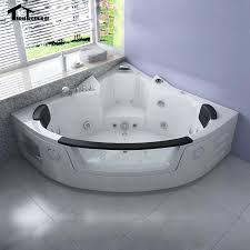 2 person corner hot tub. 1350mm whirlpool bathtub air massage acrylic 2 person hot tub wall corner glasstriangular hydro tubcorner uk a