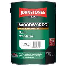 Johnstones Trade Woodworks Satin Woodstain 5l