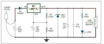 schematic usb charger the wiring diagram circuits > usb car charger adapter circuit design l22995 next gr schematic